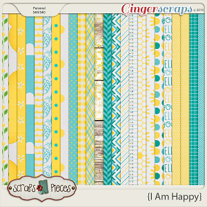 I Am Happy Patterned Papers by Scraps N Pieces