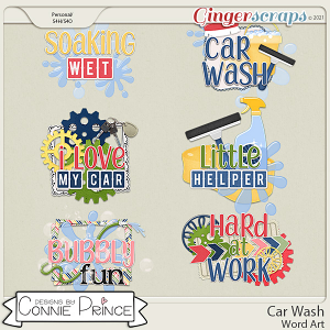 Car Wash  - Word Art Pack by Connie Prince