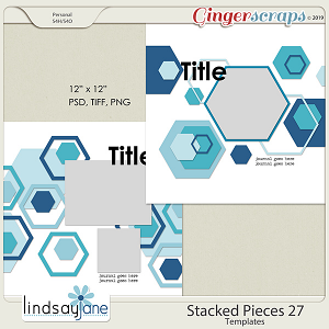 Stacked Pieces 27 Templates by Lindsay Jane