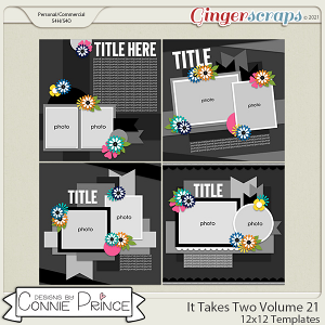 It Takes Two Volume 21- 12x12 Temps (CU Ok) by Connie Prince