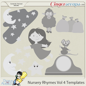 Doodles By Americo: Nursery Rhymes Vol 4 Templates
