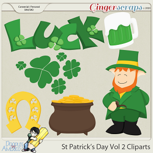 Doodles By Americo: St Patrick's Day Vol 2 Cliparts