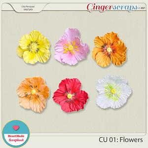 CU 01 - Clay flowers