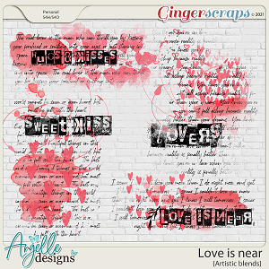 Love is near. Artistic Blends by Angelle Designs