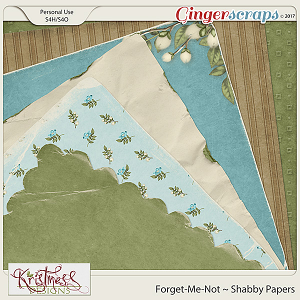 Forget-Me-Not Shabby Papers