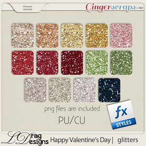 Valentine's Day: Glitterstyles by LDragDesigns