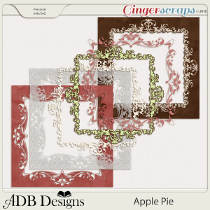 Apple Pie Page Borders