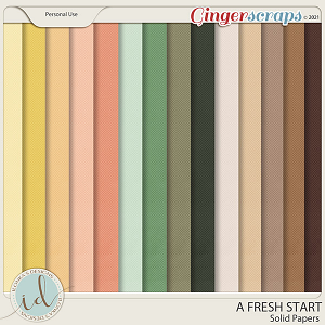 A Fresh Start Solid Papers by Ilonka's Designs