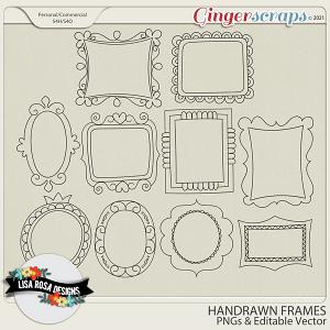 Handrawn Frames by Lisa Rosa Designs
