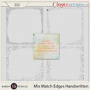 Mix Match Edges Handwritten by Karen Schulz