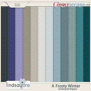 A Frosty Winter Embossed Papers by Lindsay Jane