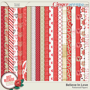 Believe In Love Papers by JB Studio