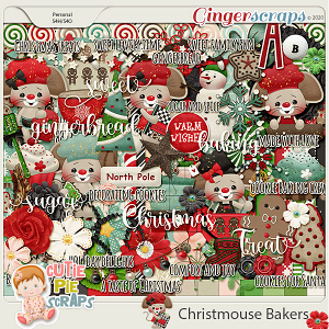 Christmouse Bakers Page Kit
