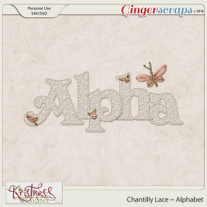 Chantilly Lace Alphabet