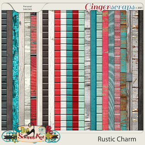 Rustic Charm Wood Papers by The Scrappy Kat