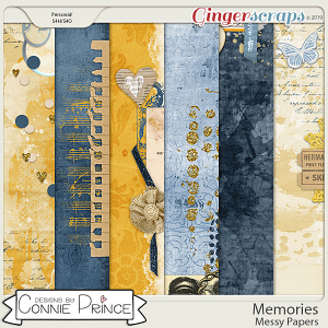 Memories - Messy Papers by Connie Prince