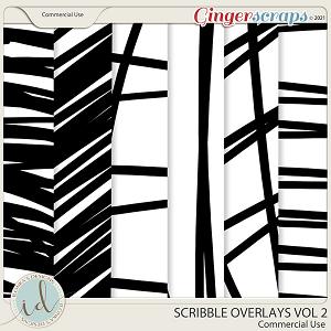 CU Scribble Overlays Vol 2 by Ilonka's Designs