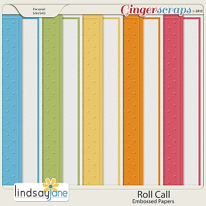 Roll Call Embossed Papers by Lindsay Jane