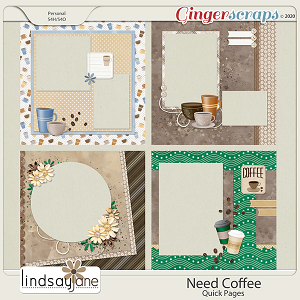Need Coffee Quick Pages by Lindsay Jane