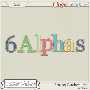 Spring Bucket List - Alpha Pack AddOn by Connie Prince