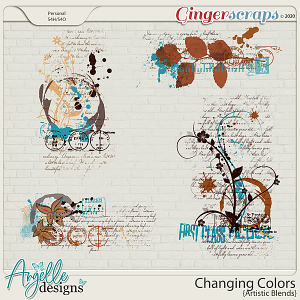 Changing Colors  Artistic Blends by Angelle Designs