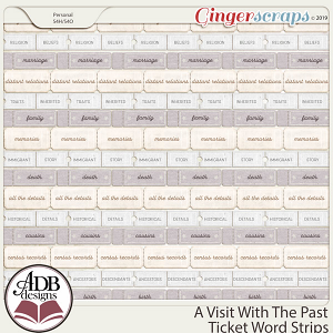 A Visit With The Past Ticket Word Strips by ADB Designs