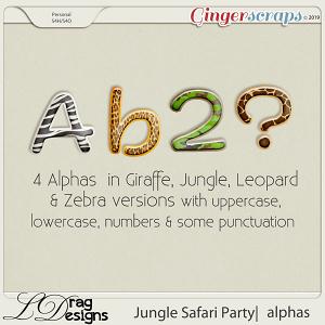Jungle Safari Party: Alphas by LDragDesigns