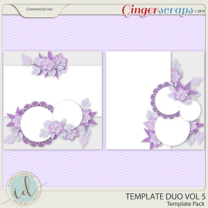 Template Duo Vol 5 by Ilonka's Designs