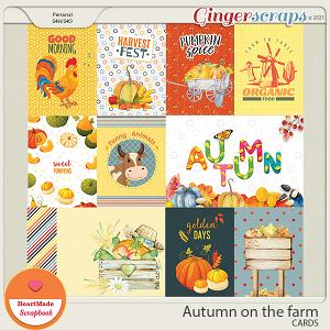 Autumn on the farm - cards