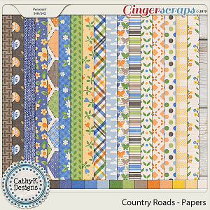 Country Roads - Papers by CathyK Designs