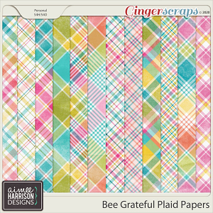 Bee Grateful Plaid Papers by Aimee Harrison