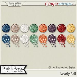 Nearly Fall CU Glitter Photoshop Styles