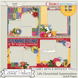 Life Chronicled: Summertime - Quick Pages by Connie Prince