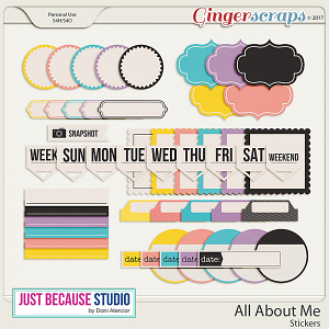 All About Me Stickers by JB Studio