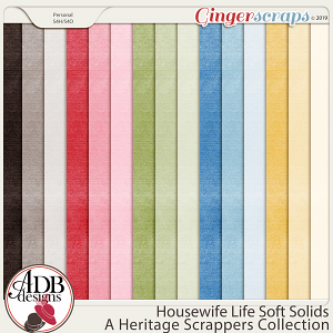 Housewife Life Solid Papers by ADB Designs