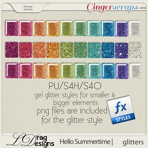 Hello Summertime: Glitter Styles by LDragDesigns