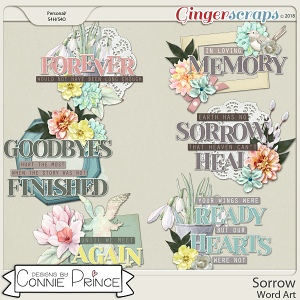 Sorrow - Word Art Pack by Connie Prince