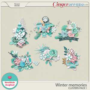 Winter memories - clusters pack 1