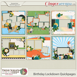 Birthday Lockdown Quickpages by Trixie Scraps Designs