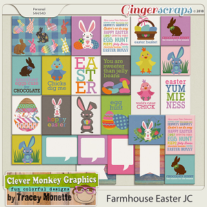 Farmhouse EasterJournal Cards by Clever Monkey Graphics