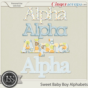 Sweet Baby Boy Alphabets