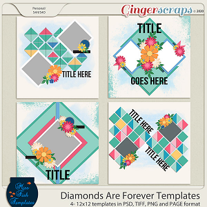 Diamonds Are Forever Templates by Miss Fish