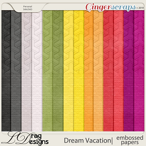 Dream Vacation: Embossed Papers by LDragDesigns