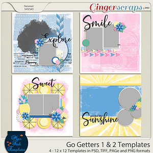 Go Getters 1 & 2 Templates by Miss Fish