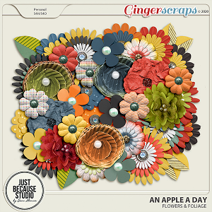 An Apple A Day Flowers by JB Studio