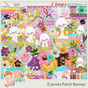 Carrots Patch Bunny Page Kit