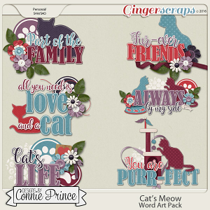 Cat's Meow - Word Art Pack