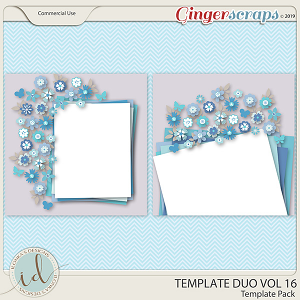 Template Duo Vol 16 by Ilonka's Designs