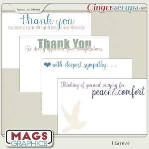 I Grieve NOTE CARDS by MagsGraphics