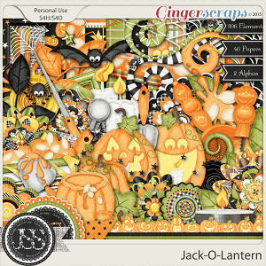 Jack O Lantern Digital Scrapbooking Kit
